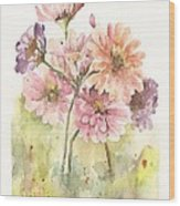Bouquet Zinnias II Wood Print
