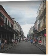 Bourbon St. Wood Print