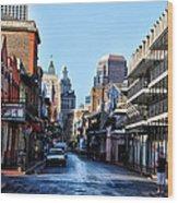 Bourbon Street By Day Wood Print