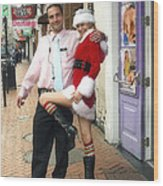 Bourbon Street In Daylight - Santa's Helper Wood Print