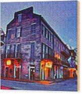 Bourbon Street In The Quiet Hours Wood Print