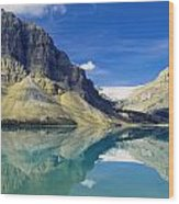 Bow Lake,alberta,canada Wood Print