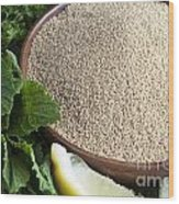 Bowl Of Amaranth Seeds Wood Print
