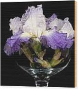 Bowl Of Iris Wood Print