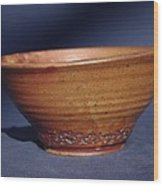 Bowl With Texture Wood Print
