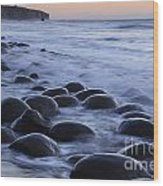 Bowling Ball Beach Wood Print