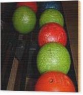 Bowling Balls Wood Print