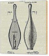 Bowling Pin 1895 Patent Art Wood Print