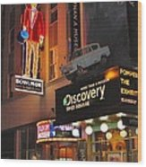 Bowlmor Lanes At Times Square Wood Print