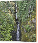 Box Canyon With Flowing Stream, Mount Wood Print