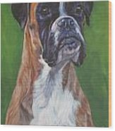 Boxer Wood Print by Lee Ann Shepard