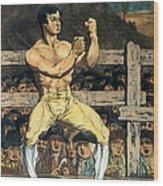 Boxing Champion, 1790s Wood Print