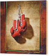 Boxing Wood Print