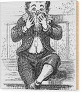 Boy Eating Wood Print