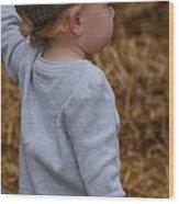 Boy In Cool Hat Wood Print