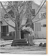 Boyd Lane Plantation Bw Wood Print