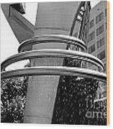 Boyd Plaza Fountain IIi Wood Print