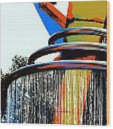 Boyd Plaza Fountain Wood Print