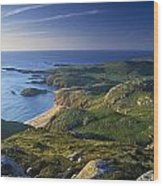 Boyeeghter Strand And Melmore Head Wood Print
