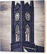 Boyertown Clock Tower Wood Print