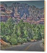 Boynton Canyon Colors Wood Print