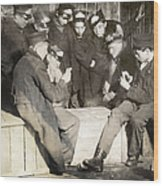 Boys Playing Poker, 1909 Wood Print