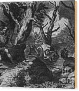 Braddocks Defeat, French And Indian Wood Print