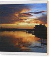 Braden River Sunset Wood Print