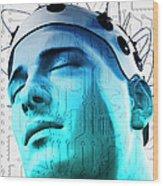 Brain Circuit Wood Print by MedicalRF.com