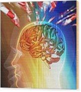 Brain Drug Wood Print by Pasieka