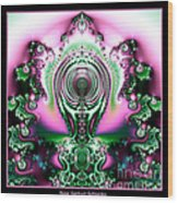 Brain Power Full Of Ideas Fractal 117 Wood Print