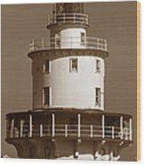 Brandywine Shoal Lighthouse Wood Print