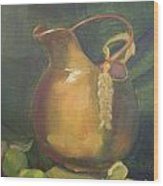 Brass And Tomatillos Wood Print by Lilibeth Andre
