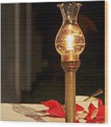 Brass Candle Romance Wood Print