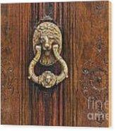 Brass Door Knocker Wood Print