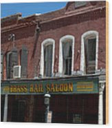 Brass Rail Saloon Wood Print
