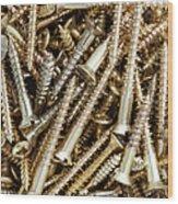 Brass Screws Wood Print