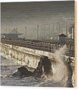 Bray Promenade, Bray, County Wicklow Wood Print