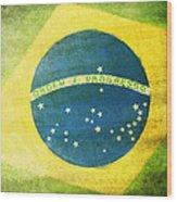 Brazil Flag Wood Print by Setsiri Silapasuwanchai