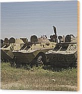 Brdm-2 Combat Reconnaissancepatrol Wood Print