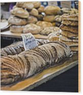 Bread Market Wood Print by Heather Applegate