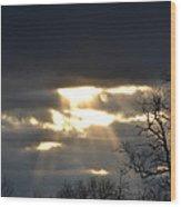 Break In The Clouds Wood Print