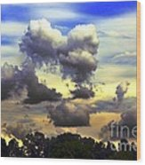 Break In The Clouds Wood Print
