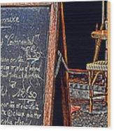 Breakfast In Paris Wood Print by Tony Grider