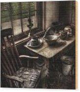 Breakfast Table Wood Print