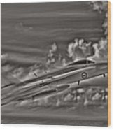 Breaking The Sound Barrier Wood Print