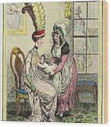 Breastfeeding, 18th-century Caricature Wood Print