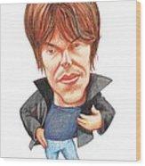 Brian Cox, Caricature Wood Print