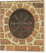 Brick And Iron Wood Print