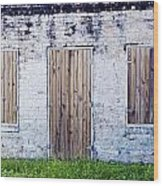 Brick And Wooden Building Wood Print